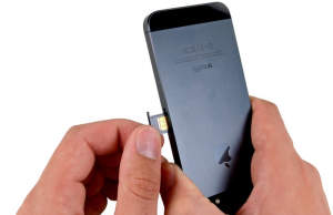 how to reinsert sim card on iphone